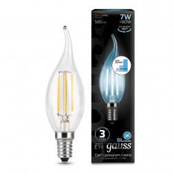 Лампа светодиодная филаментная диммируемая E14 7W 4100K прозрачная 104801207-S