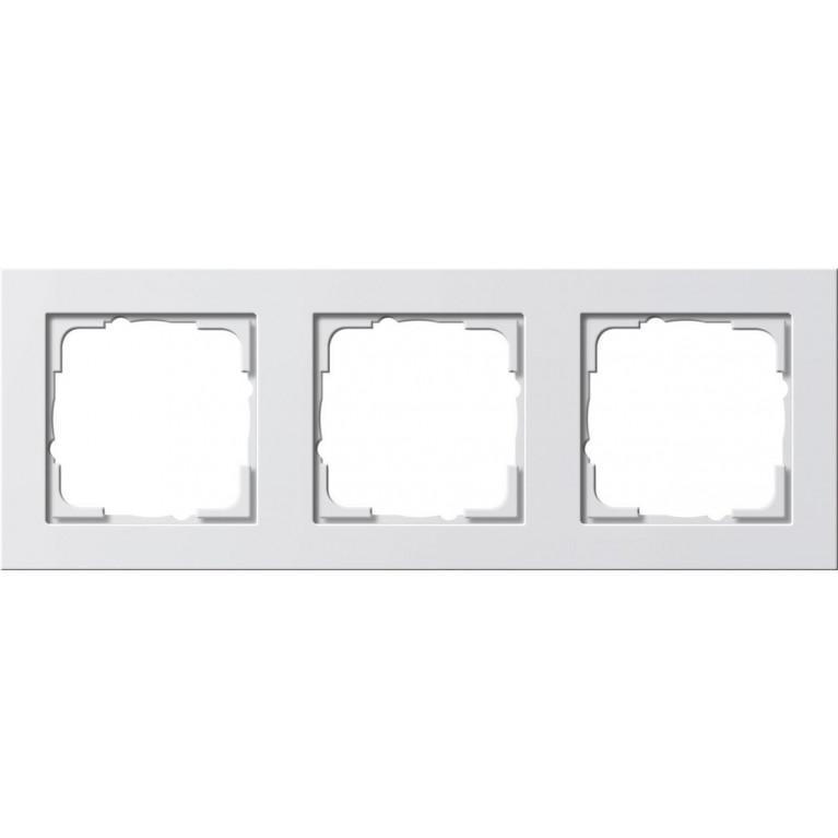 Рамка 3-постовая Gira E2 чисто-белый шелковисто-матовый 021322