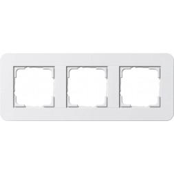 Рамка 3-постовая Gira E3 белый глянцевый 0213410