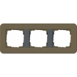 Рамка 3-постовая Gira E3 дымчатый/антрацит 0213426