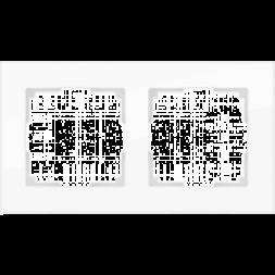 Рамка Favorit на 2 поста белая WL01-Frame-02 4690389061219