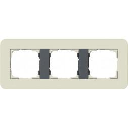 Рамка 3-постовая Gira E3 песочный/антрацит 0213427