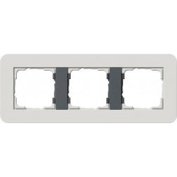 Рамка 3-постовая Gira E3 светло-серый/антрацит 0213421