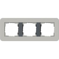 Рамка 3-постовая Gira E3 серый/антрацит 0213422