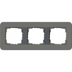 Рамка 3-постовая Gira E3 темно-серый/антрацит 0213423