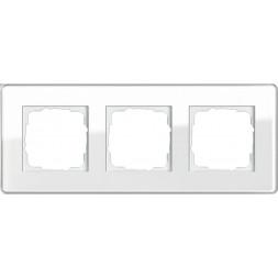 Рамка 3-постовая Gira Esprit C белое стекло 0213512
