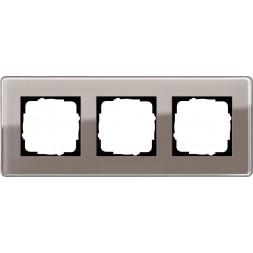 Рамка 3-постовая Gira Esprit C дымчатое стекло 0213522