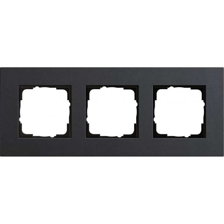 Рамка 3-постовая Gira Esprit Lenoleum-Multiplex антрацит 0213226