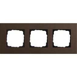 Рамка 3-постовая Gira Esprit Lenoleum-Multiplex коричневый 0213223