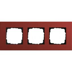 Рамка 3-постовая Gira Esprit Lenoleum-Multiplex красный 0213229