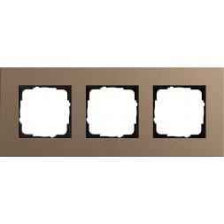 Рамка 3-постовая Gira Esprit Lenoleum-Multiplex светло-коричневый 0213221