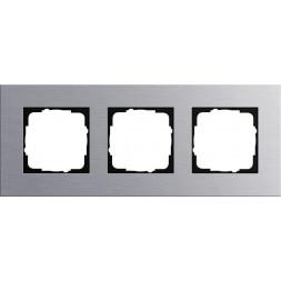 Рамка 3-постовая Gira Esprit алюминий 021317