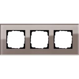 Рамка 3-постовая Gira Esprit дымчатое стекло 0213122