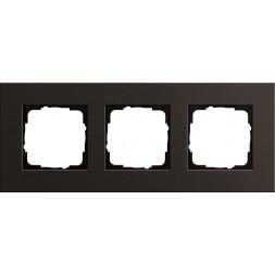 Рамка 3-постовая Gira Esprit коричневый 0213127