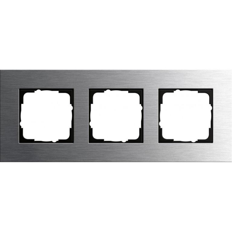 Рамка 3-постовая Gira Esprit нержавеющая сталь 0213219