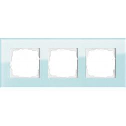 Рамка 3-постовая Gira Esprit салатовое стекло 021318