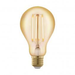 Лампа светодиодная филаментная диммируемая Eglo E27 4W 1700К золотая 11691