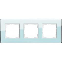 Рамка 3-постовая Gira Esprit салатовое стекло С 0213518