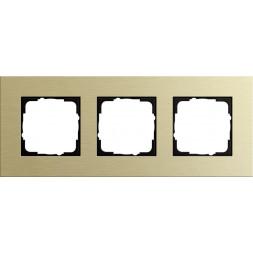 Рамка 3-постовая Gira Esprit светло-золотой 0213217