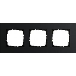 Рамка 3-постовая Gira Esprit черный 0213126