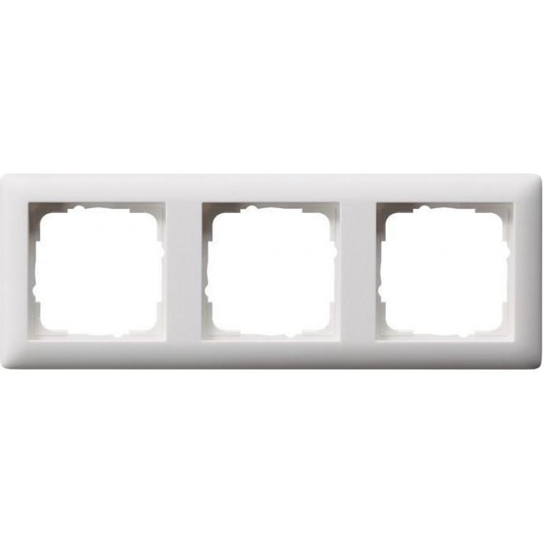 Рамка 3-постовая Gira Standard 55 чисто-белый шелковисто-матовый 021304