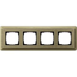 Рамка 4-постовая Gira ClassiX Art бронза 0214661