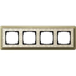 Рамка 4-постовая Gira ClassiX Art бронза/кремовый 0214663