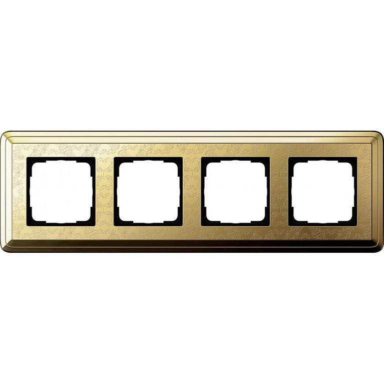 Рамка 4-постовая Gira ClassiX Art латунь 0214671