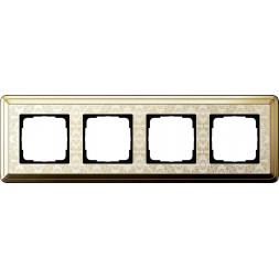 Рамка 4-постовая Gira ClassiX Art латунь/кремовый 0214673