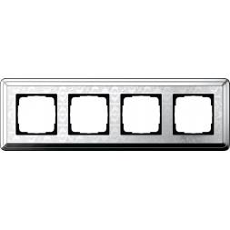 Рамка 4-постовая Gira ClassiX Art хром 0214681