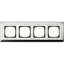 Рамка 4-постовая Gira ClassiX Art хром/кремовый 0214683