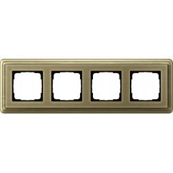 Рамка 4-постовая Gira ClassiX бронза 0214621