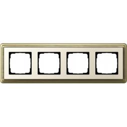 Рамка 4-постовая Gira ClassiX бронза/кремовый 0214623