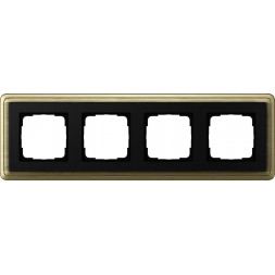 Рамка 4-постовая Gira ClassiX бронза/черный 0214622