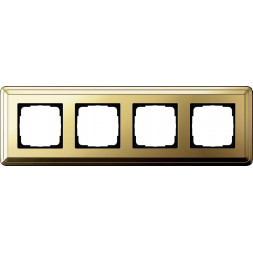 Рамка 4-постовая Gira ClassiX латунь 0214631