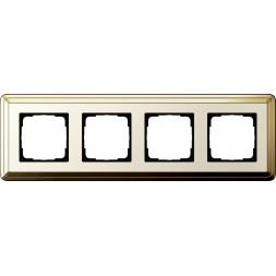 Рамка 4-постовая Gira ClassiX латунь/кремовый 0214633