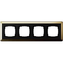 Рамка 4-постовая Gira ClassiX латунь/черный 0214632