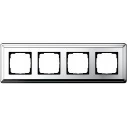 Рамка 4-постовая Gira ClassiX хром 0214641