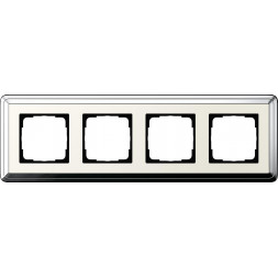 Рамка 4-постовая Gira ClassiX хром/кремовый 0214643