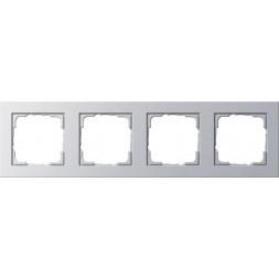 Рамка 4-постовая Gira E2 алюминий 021425