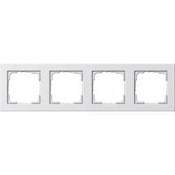 Рамка 4-постовая Gira E2 чисто-белый глянцевый 021429