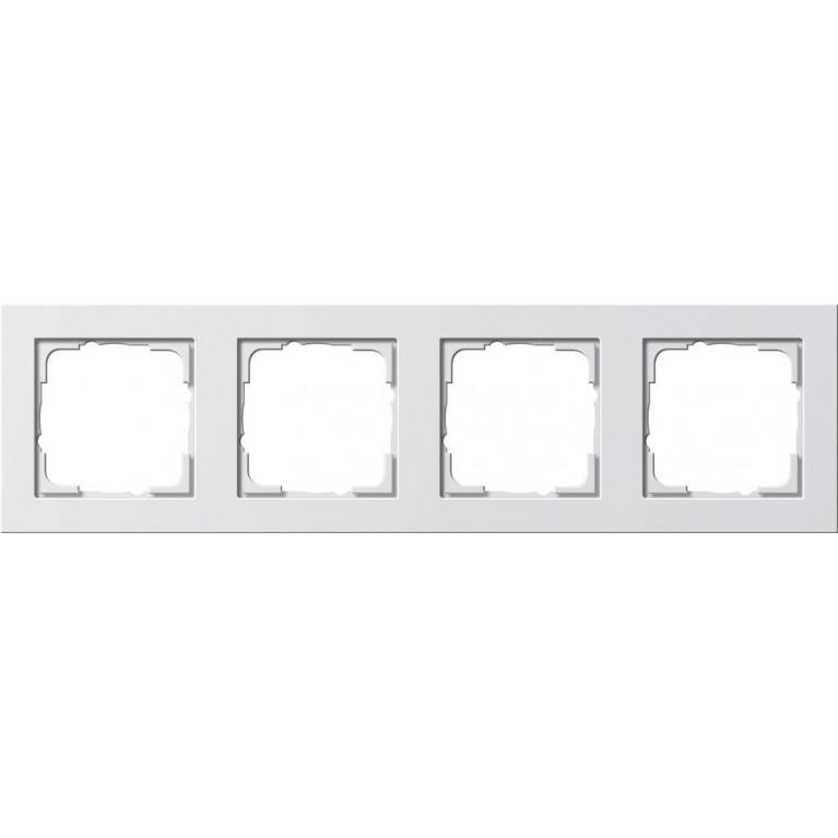 Рамка 4-постовая Gira E2 чисто-белый шелковисто-матовый 021422