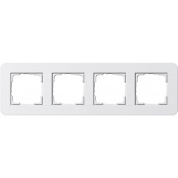 Рамка 4-постовая Gira E3 белый глянцевый 0214410