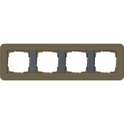 Рамка 4-постовая Gira E3 дымчатый/антрацит 0214426