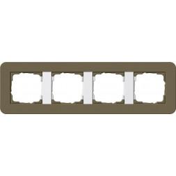 Рамка 4-постовая Gira E3 дымчатый/белый глянцевый 0214416