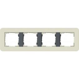 Рамка 4-постовая Gira E3 песочный/антрацит 0214427