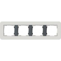 Рамка 4-постовая Gira E3 светло-серый/антрацит 0214421