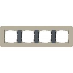 Рамка 4-постовая Gira E3 серо-бежевый/антрацит 0214428