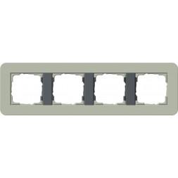 Рамка 4-постовая Gira E3 серо-зеленый/антрацит 0214425