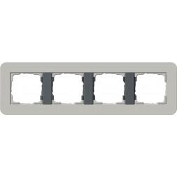 Рамка 4-постовая Gira E3 серый/антрацит 0214422
